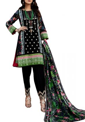 Black Unstitched Suit by Iqra Reza
