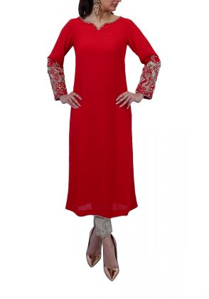 Signature Sleeve Kurta  by Imra Saeed