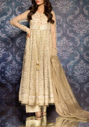 Ivory & Gold Peshwas by Maheen Taseer | MGT