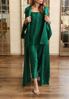 Luxe Jacket Pure Silk by Farida Hasan
