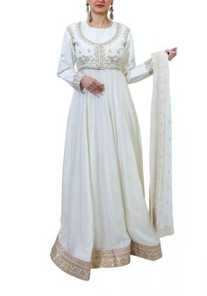Anarkali with Embroidered Jacket by Miniaar