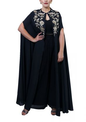 Cape with Pallazo and Bustier by Miniaar