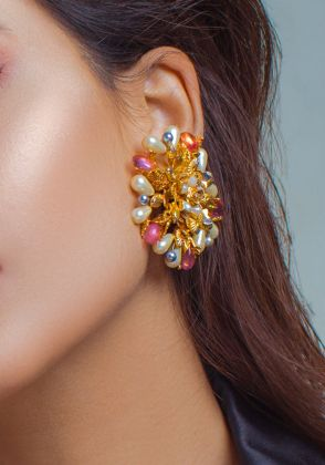 Moonlight Flame Earrings by Rema Luxe