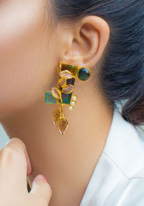 Ornamental Deco Earrings by Rema Luxe