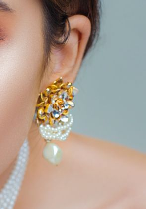 Pearly Twirls Earrings by Rema Luxe