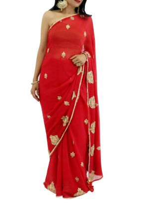 Red Saree by Suchita's Stylista