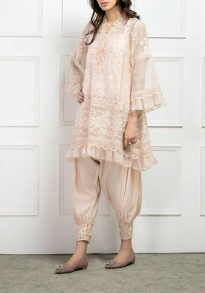 Ruffled Leaves Shirt by Farida Hasan