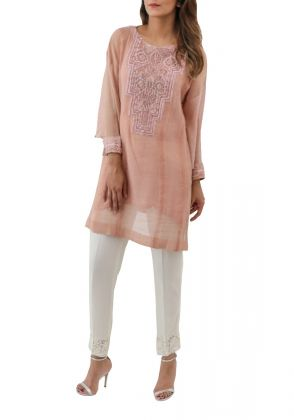 Salmon Tunic by IVY Prints