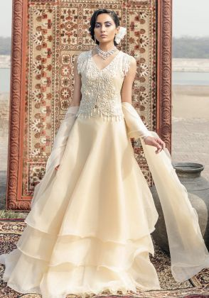 Elora Off White by Shahnaz Anis Studios