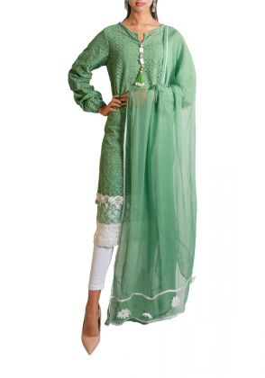 Cotton Chikkan Tunic Set by Shen