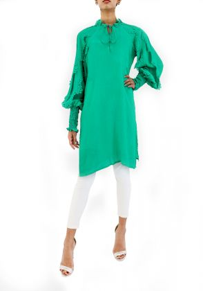 Silk Butterfly Sleeves Tunic by Kavalier