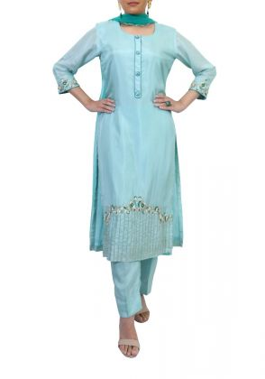 Aqua Green Suit by Suchita's Stylista