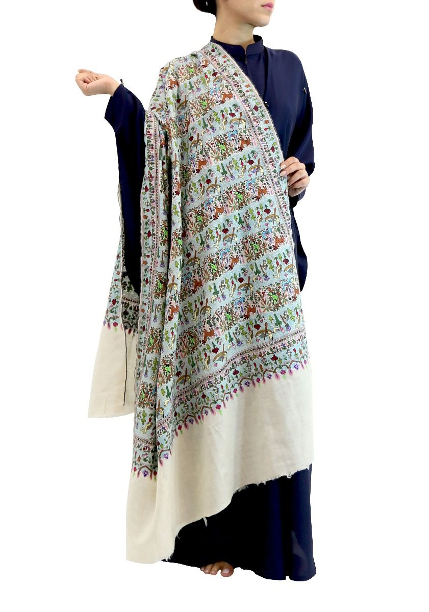 Embroidered Story Kashmiri Shawl