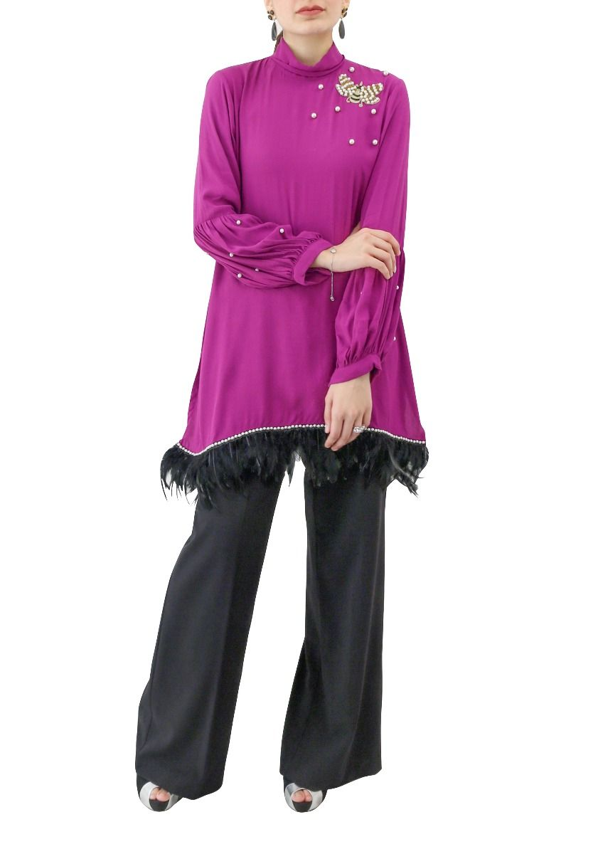 Feather Tunic Lilac