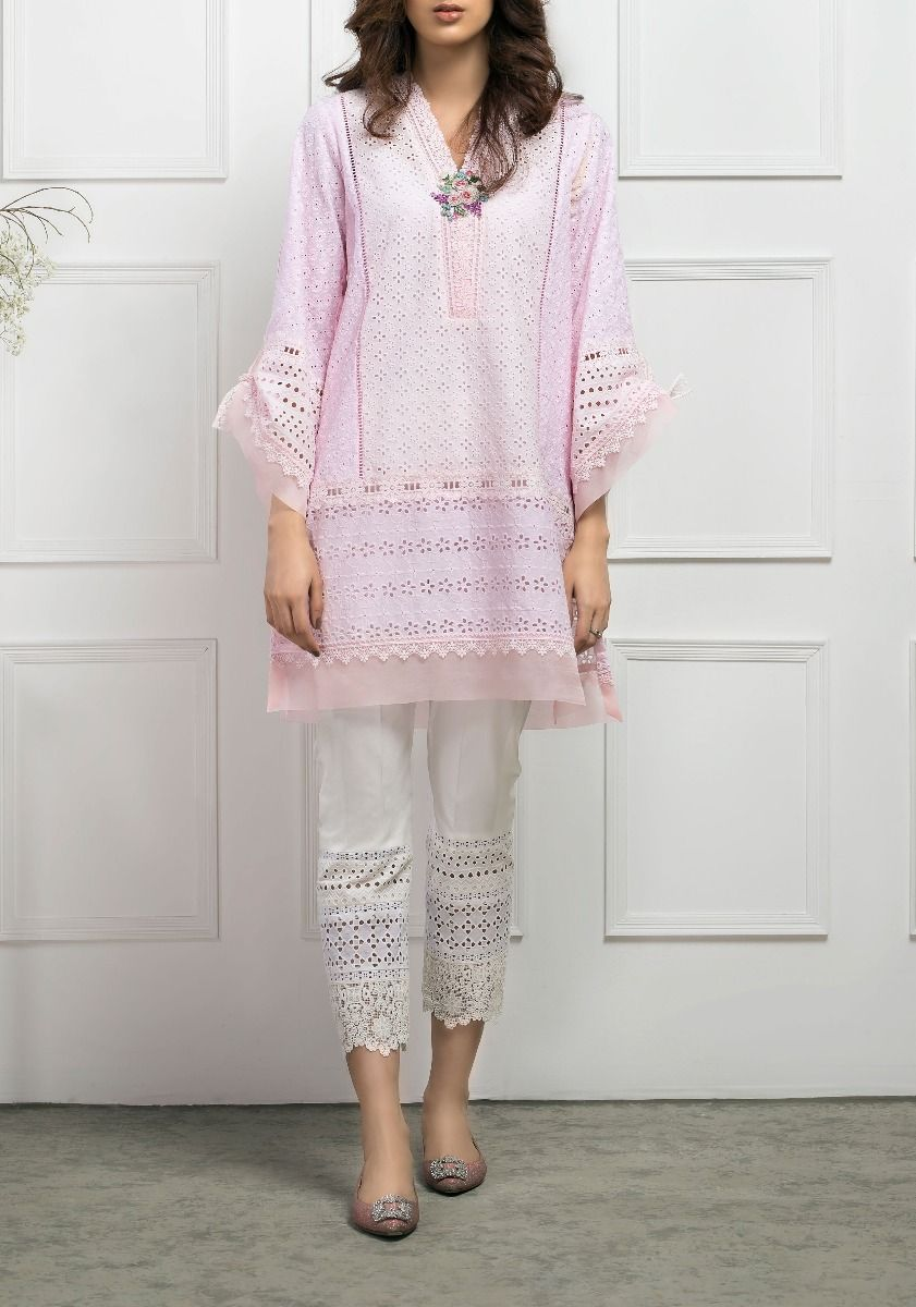 Grapevine Chikkan Kurta with Rose Embroidery
