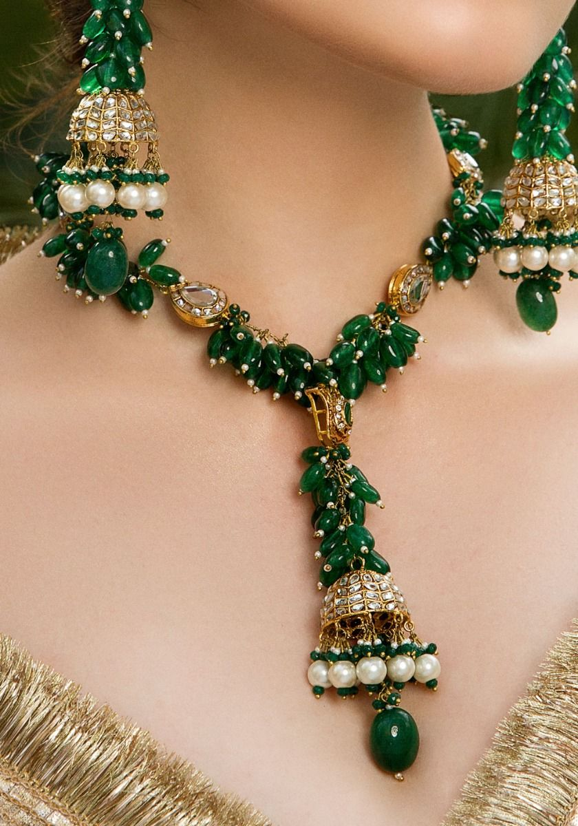 Green Gladiolus Necklace