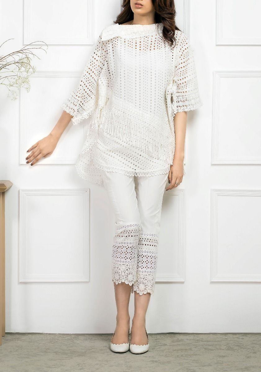 Shabby Chic Chikkan and Lace Tunic